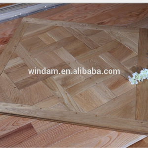 Natural oil finished Glueless Versailles parquet wood flooring