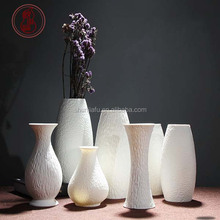 Creative White Ceramic Vase Desktop Decor Contracted White Porcelain Vase
