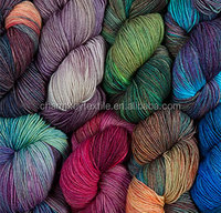 2014 Best selling fancy wool blended nylon yarn in hank with space dyed pattern