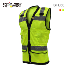 100% polyester wholesale ansi ppe high visibility safety clothing for men construction workwear vest with reflective security