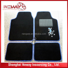 colorful decorative car mats with PVC and velour material