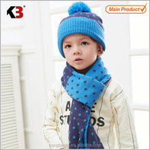 2016 New style high quality kids hat and scarf scarf hat set one piece scarf hat