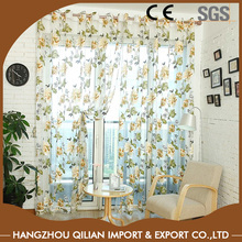 Classic Flower Yellow Tulle Curtain