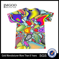 MGOO Fashionable Custom Ink Design T-shirt Manufacturer Cotton Polyester Blend 170g Eco-friendly Sublimation Shirts