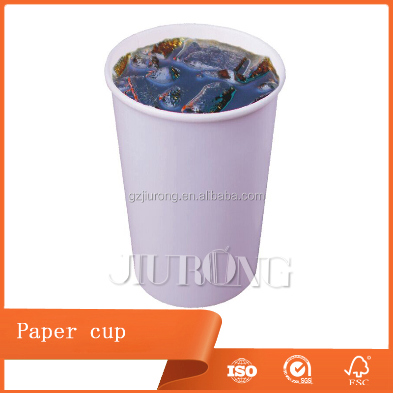 USA marketing single wall paper cup for cold drinking