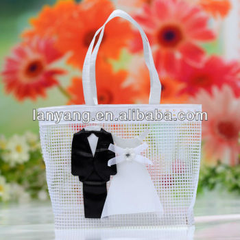 Chic Bride & Groom Wedding Favor Bag (CZ-010)
