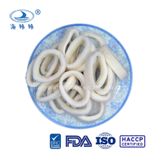Frozen pacific squid rings with 100% net weight or 10 to 50%glazing
