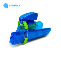 Food Grade Customized BPA Free Foldable Water Bottle, Collapsible Water Bottle, Folding Water Bottle