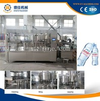Automatic mineral water bottle washing filling and processing machine