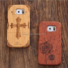 Cheaper Wood Carving Case For Samsung Galaxy S4 S5 S6 S7 edge , Custom Wooden Phone Cover For Samsung Note 2 3 4 5