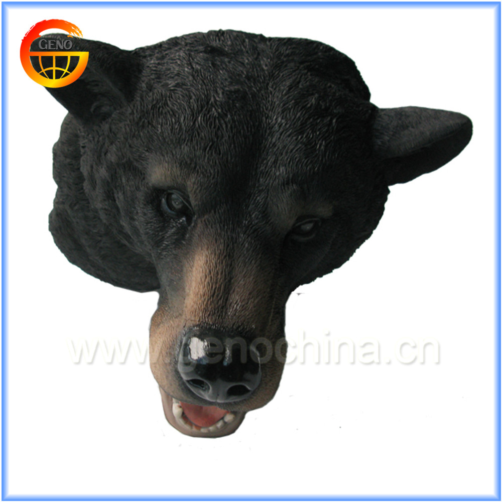 Black bear head decorative wall masks