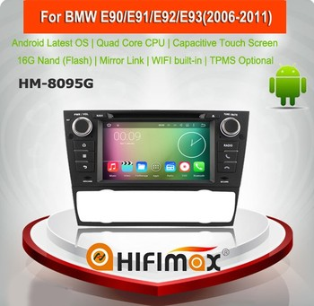 HIFIMAX Android 5.1.1 touch screen car dvd for BMW 3 Series E91 2006-2011,high definition 1024*600,16GB Quad-core
