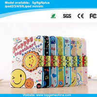 Smile flower Pattern Leather Case for ipad mini with Credit Card Slots & Holder