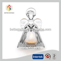 Decorative Crystal Angel Shaped Candle Holders