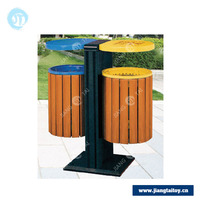 household product JT-16404B colored metal trash can waste bin