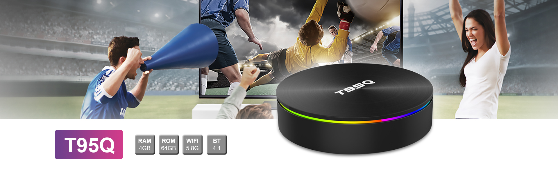 T95Q Android TV Box Amlogic S905X2   Full HD 1080P Quad Core eco tv box KD Player 18.0 with 2.4/5.8 GHz WiFi  4gb 32gb