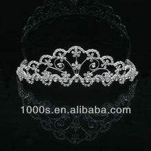 Hot Sell Fashion Rhinestone 925 Sterling Silver Crystal Wedding Crown Tiara