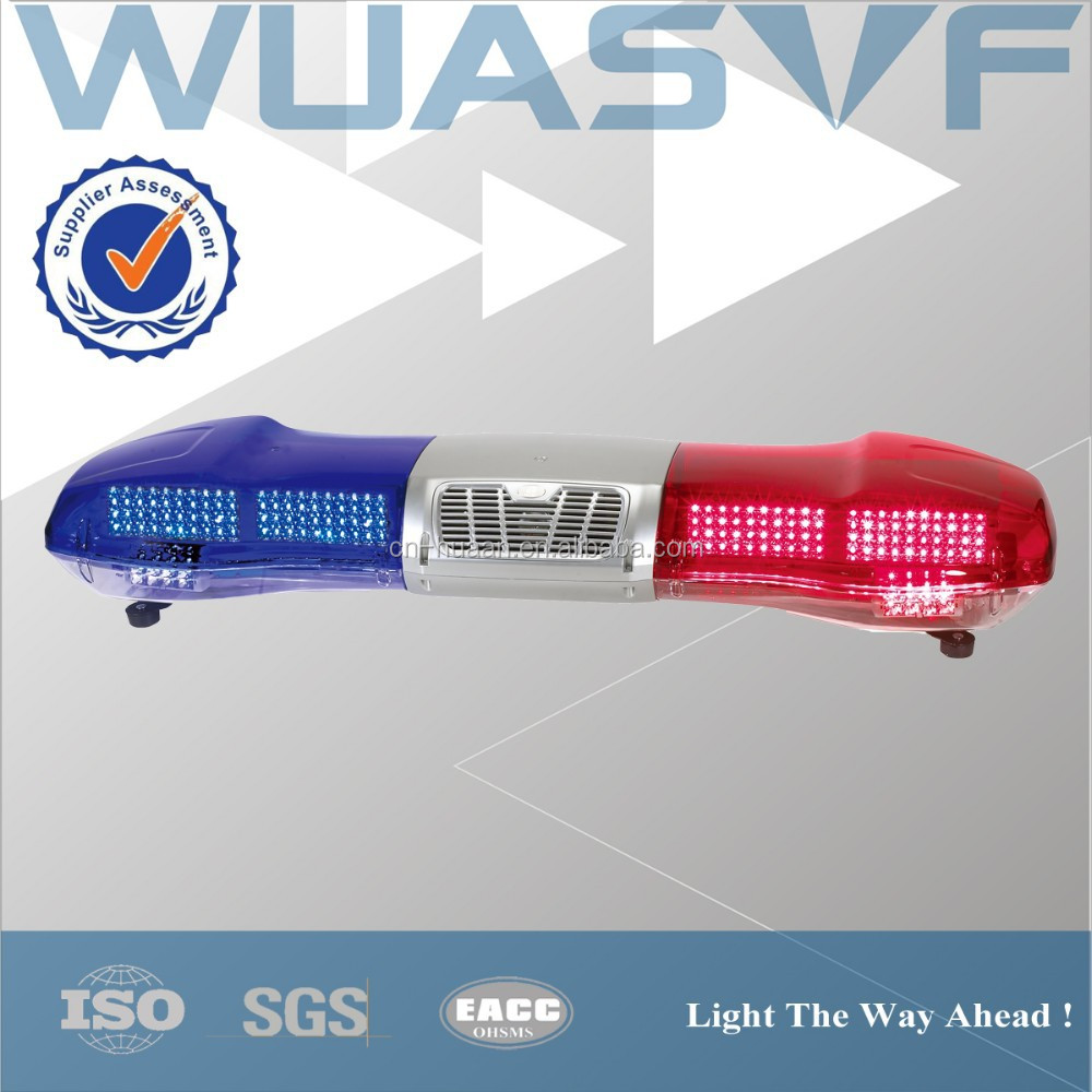LED warning lightbar with siren for police security car