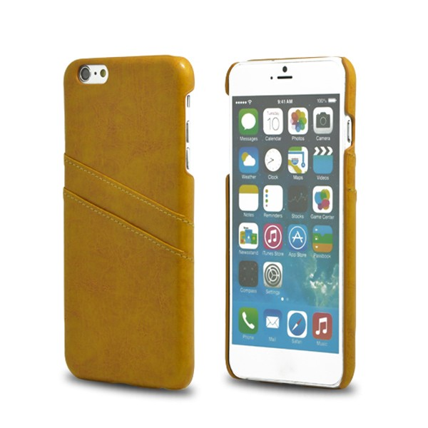 2016 Best Selling Fashion Leather Card Holder Case for Iphone 6 Plus
