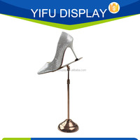 Rose Gold Metal Shoe Display Stands