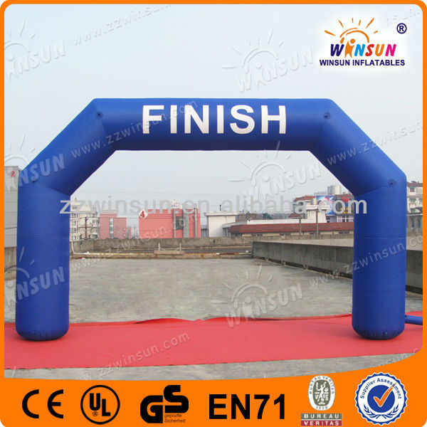 Sports training high quality advertising campaign inflatable finish line arch