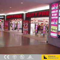 Wooden glass showcase retail display furniture for duty free shop interior design
