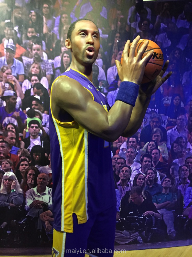 Basketball star lifesize wax figure Kobe Bryant