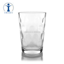 China Factory Wholesale Clear Crystal Fashion Beautiful Customized Creative Dimple Glass Water Cup