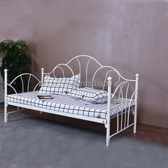 Wholesale customized size metal furniture wrought iron day bed