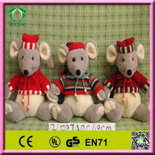 HI EN71 2014 hot sale funny christmas mouse stuffed toy