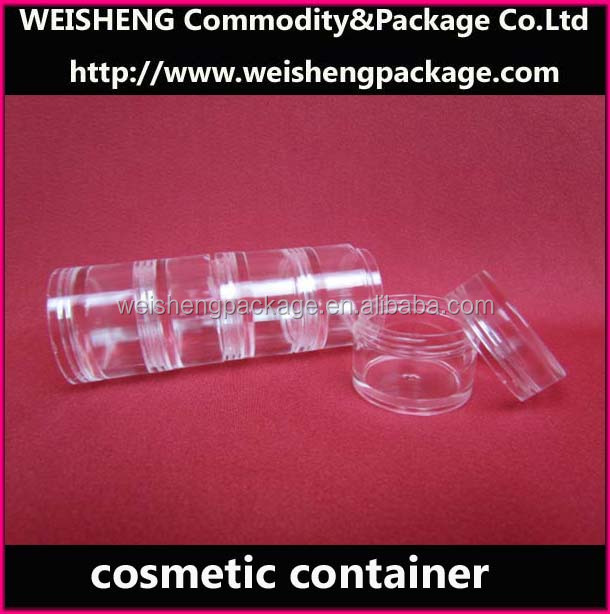 Transparent clear manufactures blusher box/compact powder case/cushion powder case
