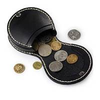 17140 Classic Genuine Leather Black Coin Purse for Women