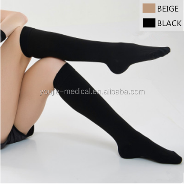 Secondary pressure medical varicose veins open and closed toes compression hosiery with free sample