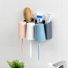 Hanging wall toothbrush cup holder, plastic wall-mounted cup toothbrush holder