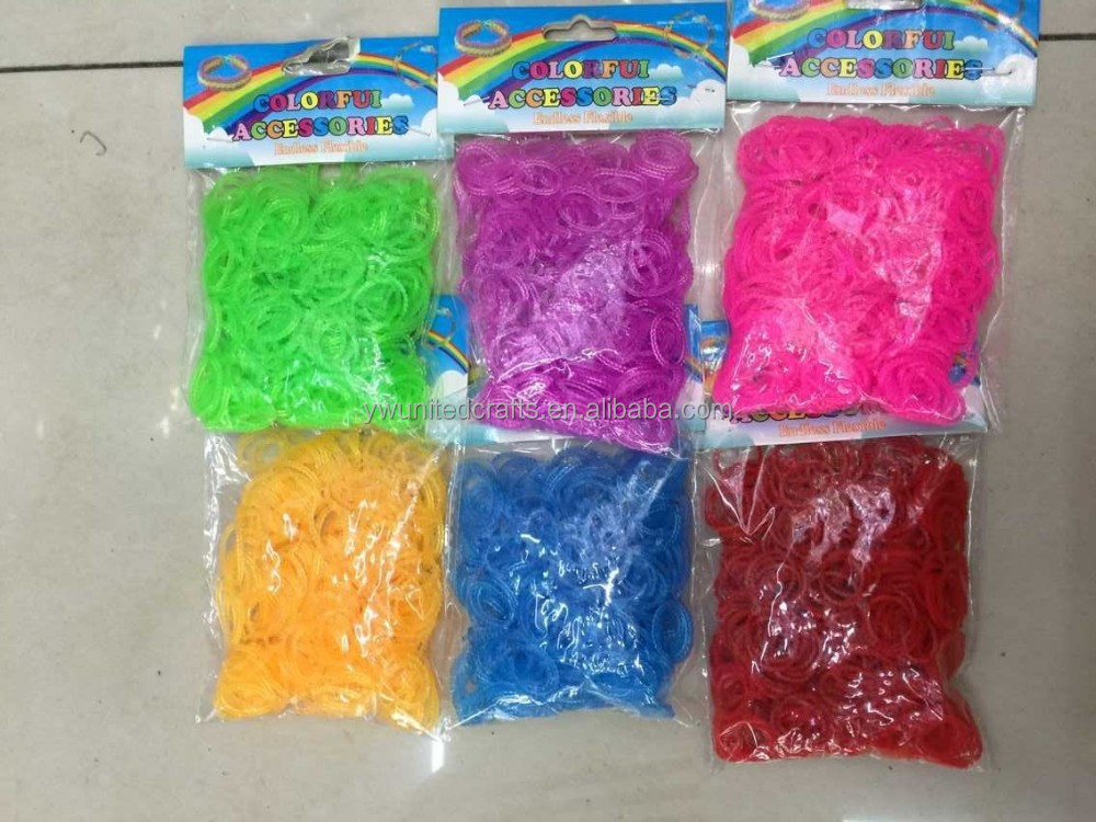 Colorful Pearl style series DIY looms rubber bands