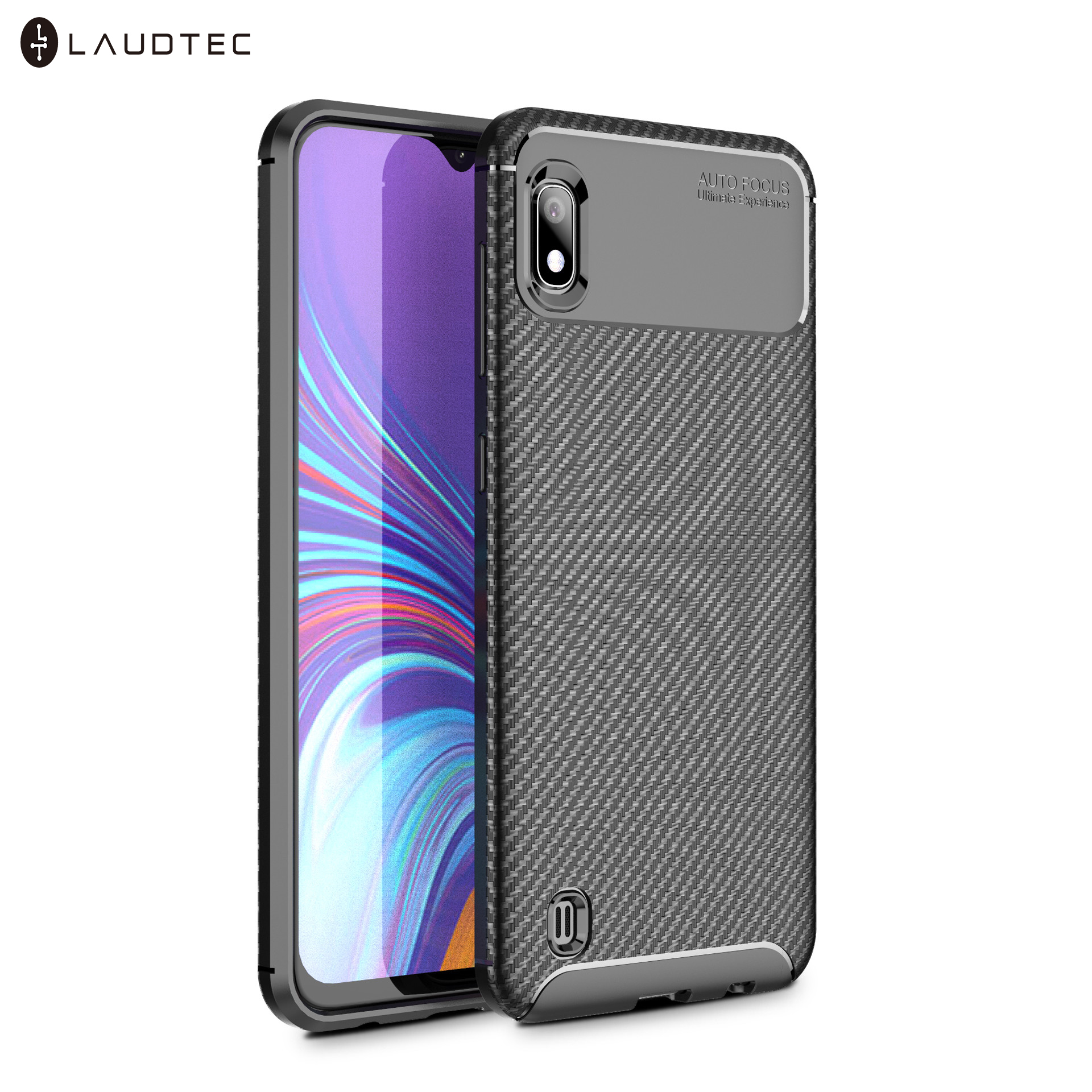 Laudtec New Carbon Fiber Soft Tpu Back Cover Phone Case For Samsung Galaxy <strong>A10</strong>