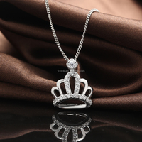 Personalized Design Antiallergic Silver Jewelry, Silver Crown Pendant