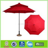 High quality Wind resistant Sun protection Wind resistant water proof patio umbrella