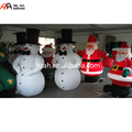 Christmas Decorative Inflatable Snowman with Hat and Santa