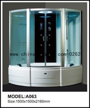 shower steam room with lcd tv