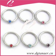 Body Jewelry BCR nose piercing