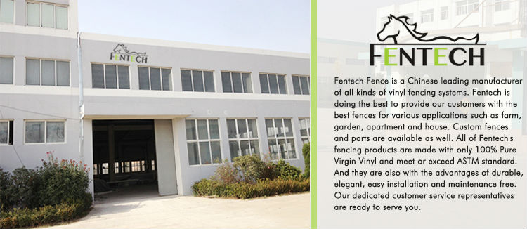 Widely Used Fentech high Quality Picket Plastic PVC Plastic Fence