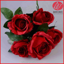 Top quality top sell hot selling silk rose bridal bouquet