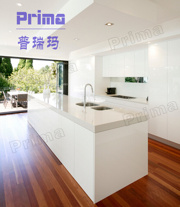 Popular american style vinyl wrapped pvc kitchen cabinets for Bathroom cabinets pakistan