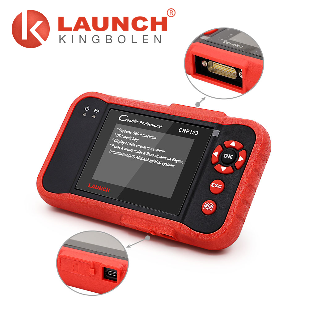 Displays monitor and I/M rediness status Launch CRP123 scanner automotive universal diagnostic tools