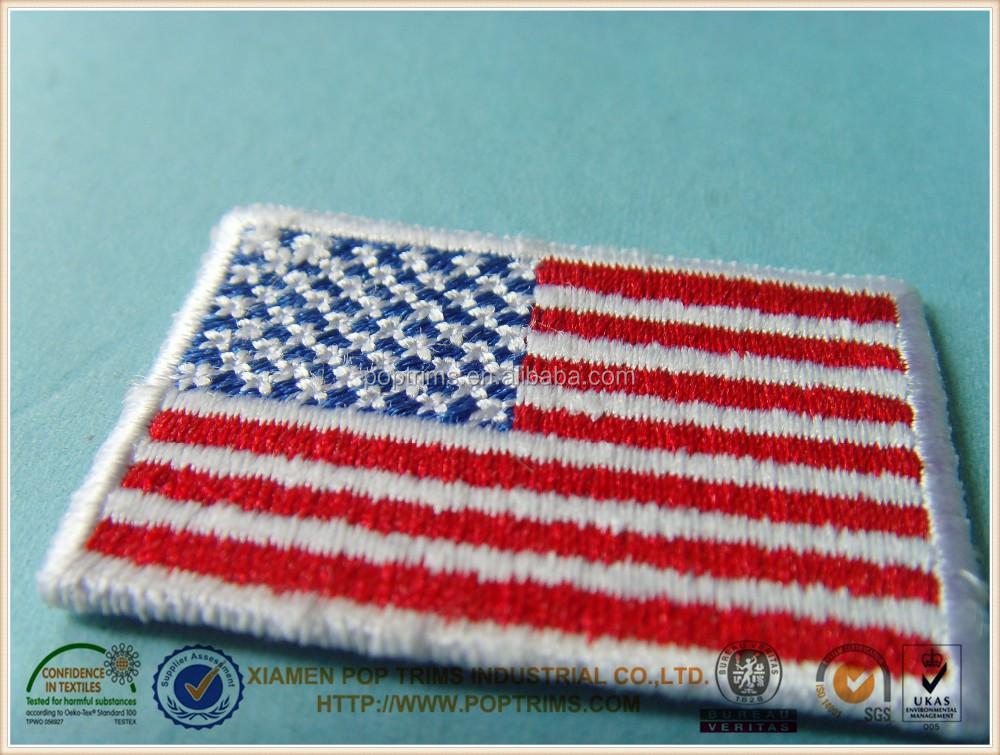 Small size various national flag pattern patches