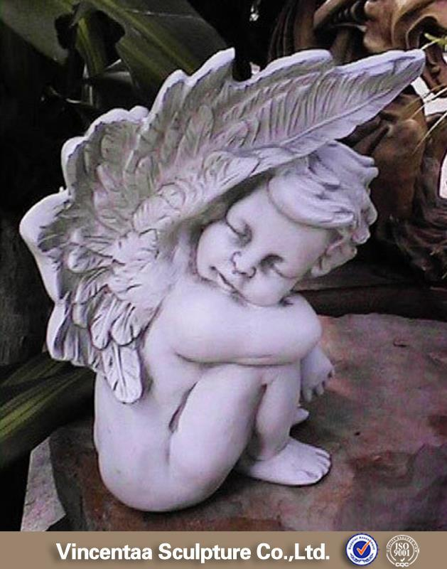 High quality church religion marble cemetery angel statue