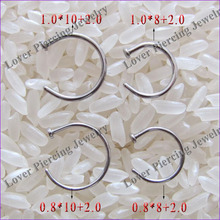 Hot Selling High Polish Stainless Steel Open Nose Rings [SS-N651]