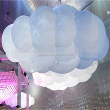 Floating advertising PVC inflatable lighting cloud balloon with logo printing. A6016
