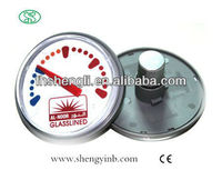 customize-printed picture bimetal water pipe thermometer